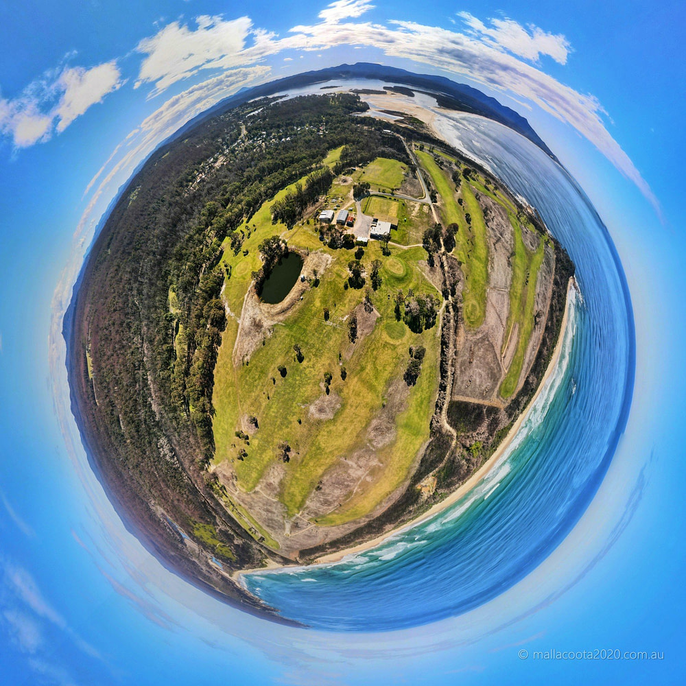 Golf Club Mallacoota Tiny Planet